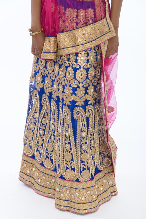 Opulent Royal Blue Lehenga Choli