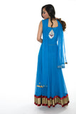 Gorgeous Blue Diamonds Long Anarkali Gown (Size M/L)