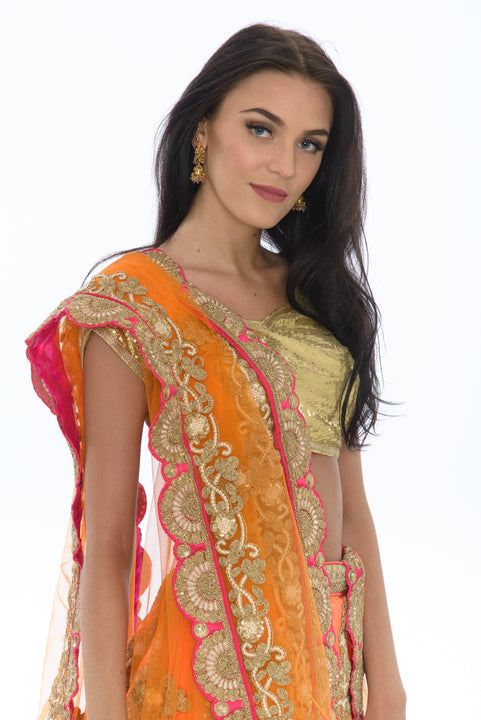 Sublime Citrus Sunset Lehenga