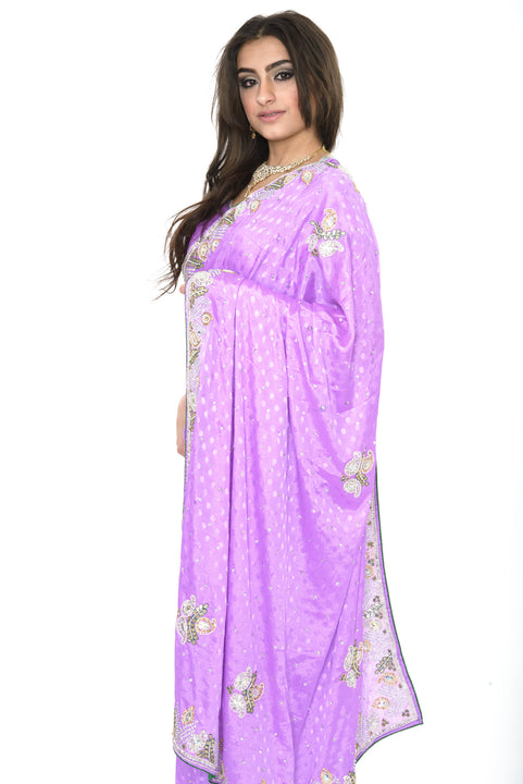 Shimmer in Lavender Partywear Pre-Stitched Ready-made Sari