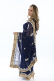 Marvelous Navy Partywear Sari