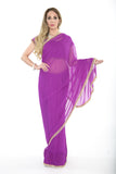 Simply Soft Lavender Pre-Stitched Ready-made Sari
