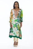 Mango Splash Watercolor Kurti Salwar Kameez