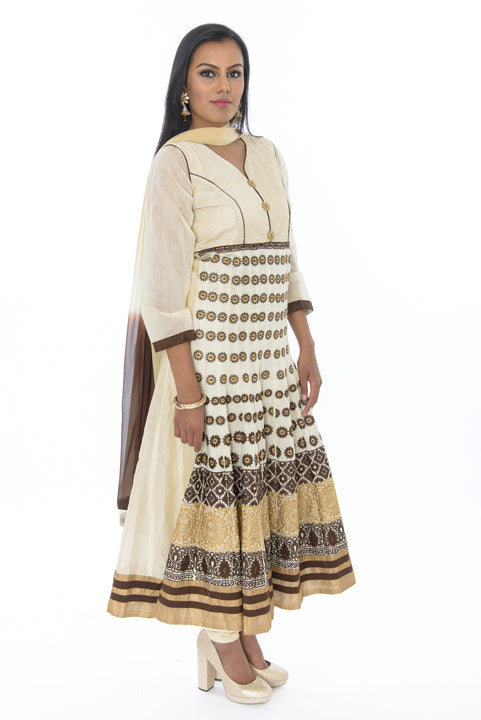 Sandy Shores Long Anarkali Gown