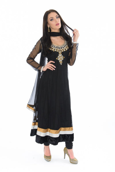 Meet Me at Midnight Black Anarkali