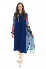 Vibrant Watercolor Design Kurti Salwar Kameez