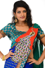 Stylish Peacock Saree
