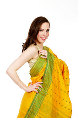 Sunny Bright Yellow Silk Saree