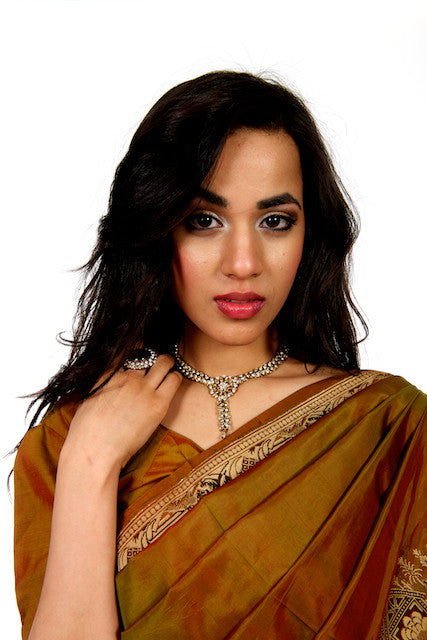 Traditional Turn - Brown Silk Saree