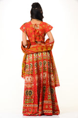 Traditional Orange Lehenga Choli