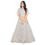 Belle of the Ball Grey and Gold Trendy Crop Top Style Lehenga - 9104