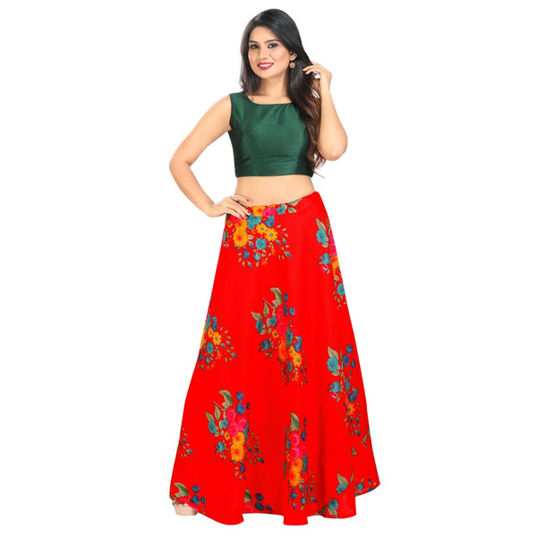 Simply Sophisticated Floral Trendy Crop Top Style Lehenga - 9105