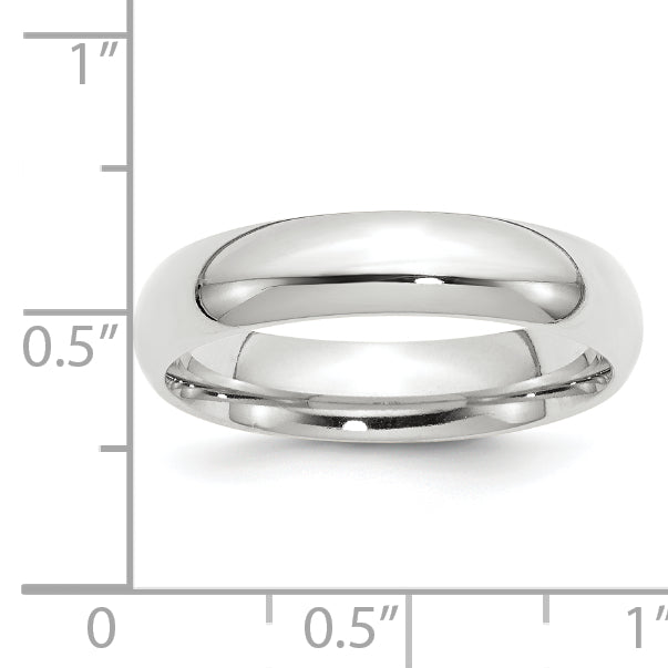 14K White Gold 5mm Comfort-Fit Band Size 4 to 14