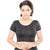 Designer Indian Black Lycra Non-Padded Stretchable Half Sleeves Saree Blouse Crop Top (A-10)