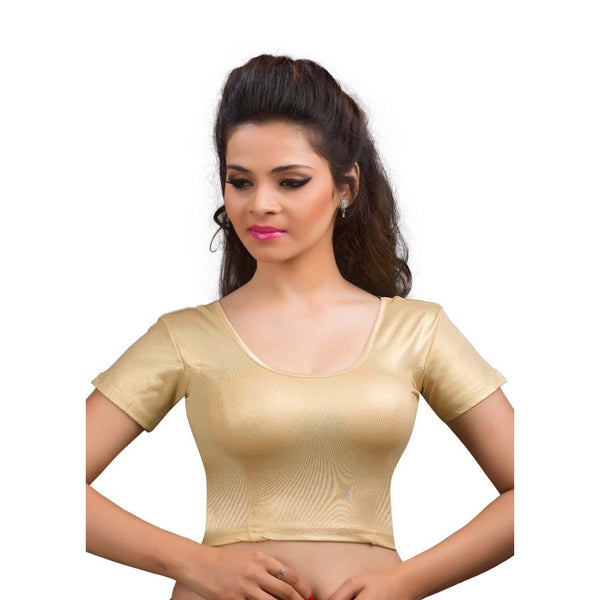Gold Shimmer Stretchable Saree Blouse SNT-A-17-SL