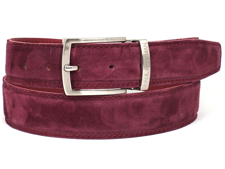 PAUL PARKMAN Men's Purple Suede Belt (ID#B06-PURP) (L)