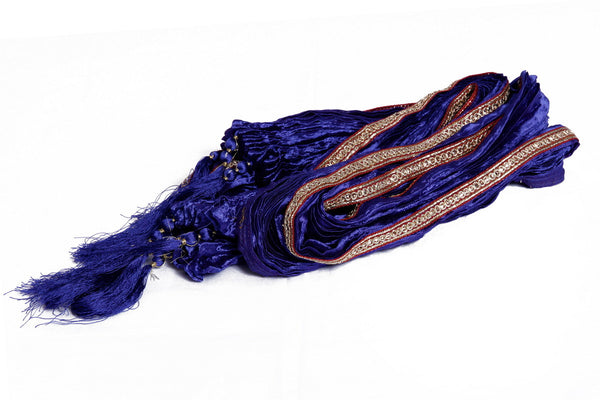 Royal Blue Fancy Khesh Stole