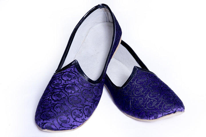 Purple Black Color Simple Mojari Juti BLSNT0120