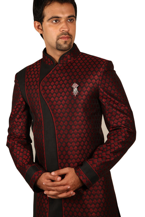Saris and Things Fabulous Indo-Western Sherwani for Men BL1037SNT