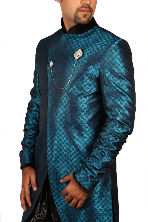 Saris and Things Graceful Indo-Western Sherwani for Men BL1038SNT