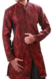 Burgundy Indian Wedding Indo-Western Sherwani for Men BL1050SNT