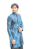 Blue Indian Wedding Indo-Western Sherwani for Men BL1051SNT
