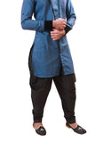 Winter Blue Indian Wedding Indo-Western Sherwani for Men BL1060SNT