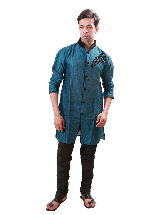 Cerulean Indian Wedding Indo-Western Sherwani for Men