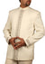 Classic Cream Traditional Indian Jodhpuri Suit Sherwani For Men