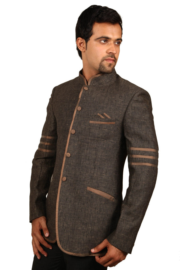 Trendy Coconut Husk Traditional Indian Jodhpuri Suit Sherwani For Men