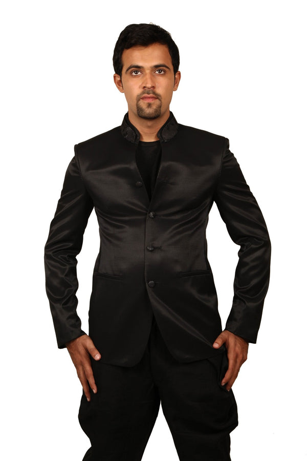 Stylish Black Traditional Indian Jodhpuri Suit Sherwani For Men