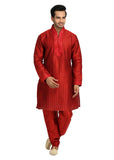 Red Pathani Kurta for Men