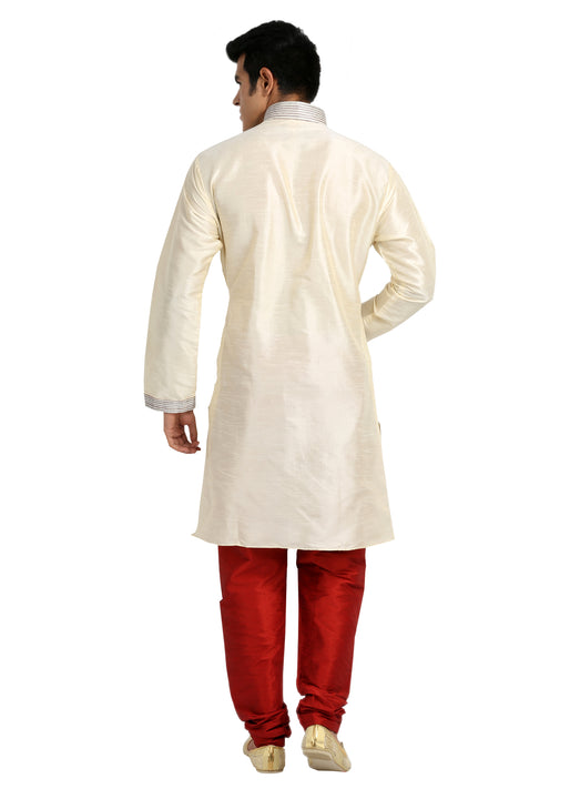 Elegant Cream Kurta Sherwani - Indian Ethnic Wear for Men
