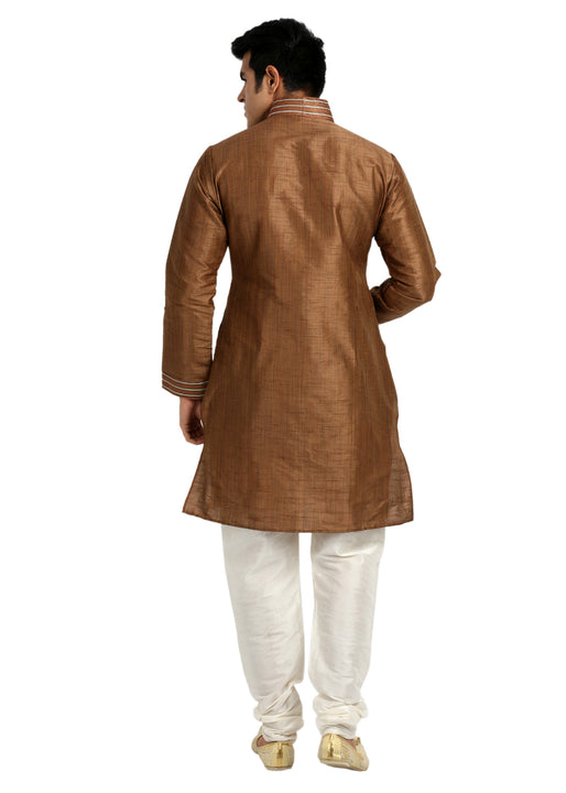 Classy Coffee Silk Kurta for Men
