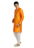 Trendy Highneck Mustard Kurta Sherwani - Indian Ethnic Wear for Men