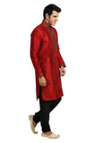 Ritzy Red Kurta Set Sherwani - Indian Ethnic Wear for Men