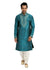 Light Blue Kurta Pajama Sherwani - Indian Ethnic Wear for Men