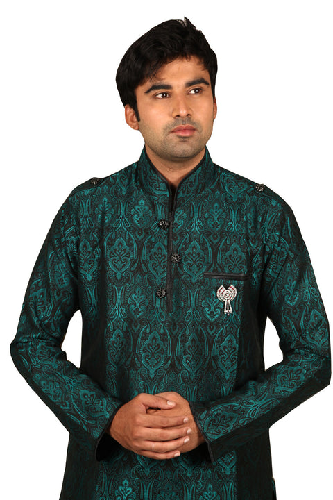 Beautiful Peacock Green Kurta for Men