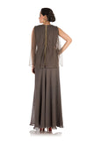Iron Grey Gown With Cape