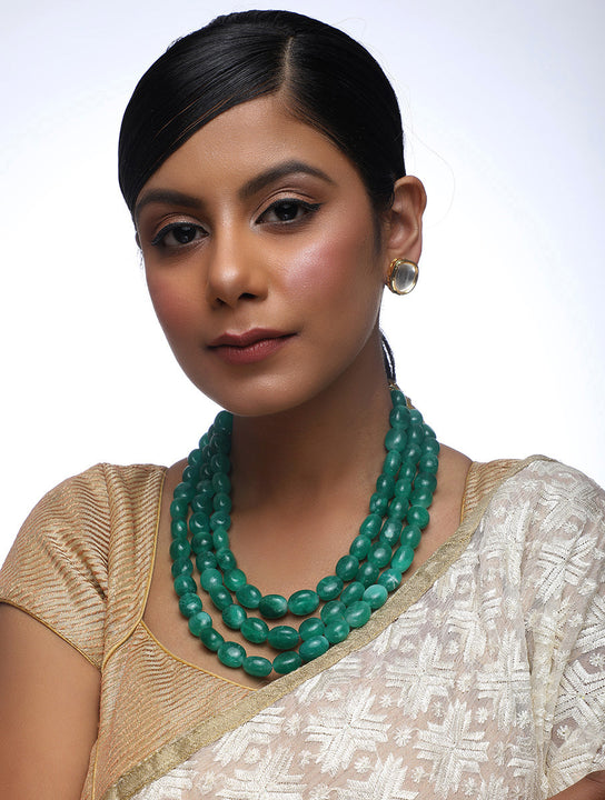 Emerald Neckpiece With Studs - MRR116