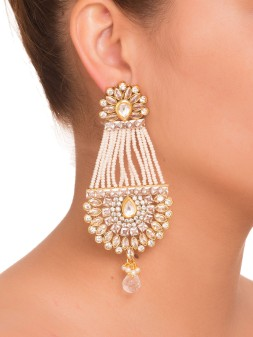 Pearl Chandelier Earrings - MRR217