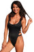 Ujena High Cut Black Double Strap 1-pc Swimsuit