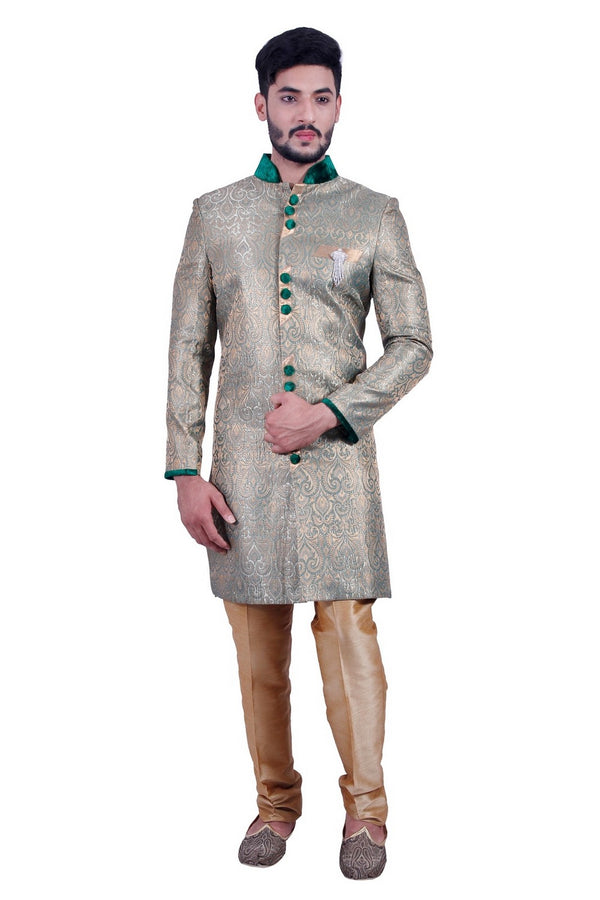 Unique Multicoloured Indian Wedding Indo-Western Sherwani for Men