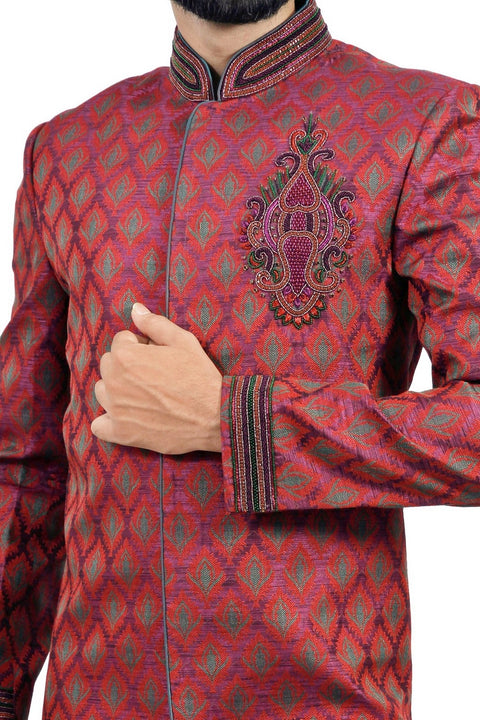 Royal Groom Indian Wedding Indo-Western Sherwani for Men RK1121SNT