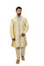 Cream Silk Traditional Indian Wedding Indo-Western Sherwani for Men