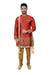 Maroon Silk Traditional Indian Wedding Indo-Western Sherwani for Men