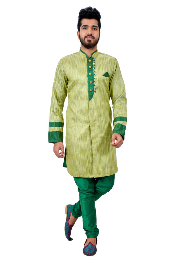Kiwi Silk Traditional Indian Wedding Indo-Western Sherwani for Men