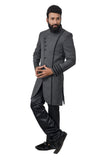 Gray Asparagus Italian Febric Traditional Indian Wedding Indo-Western Sherwani for Men