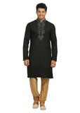 Black Indian Wedding Kurta Pajama Sherwani for Men