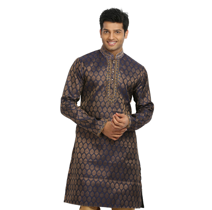 Cobalt Indian Wedding Kurta Pajama Sherwani for Men
